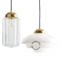 glass and brass pendant lamp