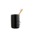 tumbler in black ceramic