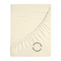 fitted sheets uni beige bed linen