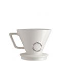 porte filtre à café en porcelaine