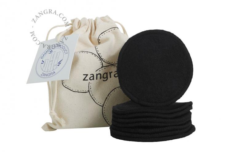 bamboo reusable pads black