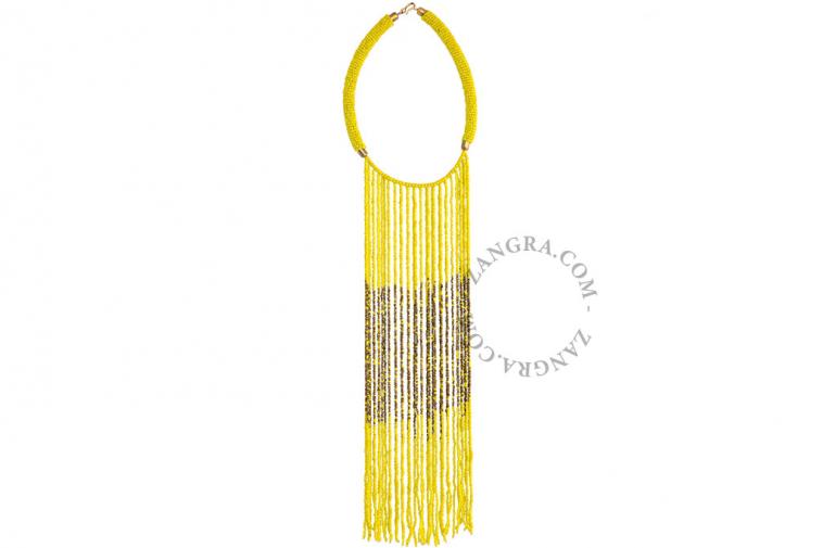 multicolor-glass-fairtrade-bead-necklace-yellow-ethnic