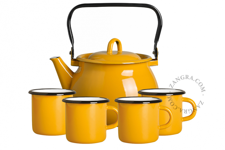 tableware-enamel-mustard-mug-kettle