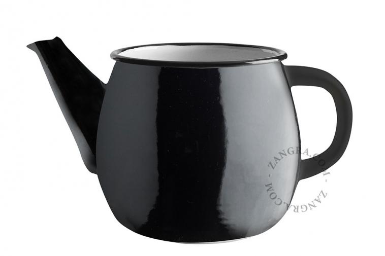 black-enamel-teapot-tableware