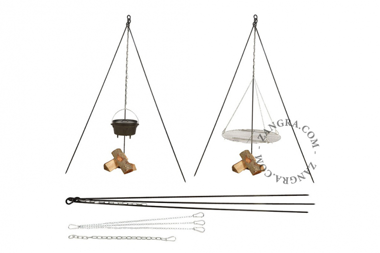 barbecue-outdoor-stand-dutch-tripod-chain-grid-oven