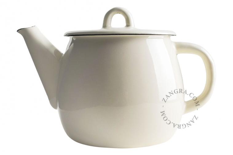 enamel-tableware-teapot-ivory