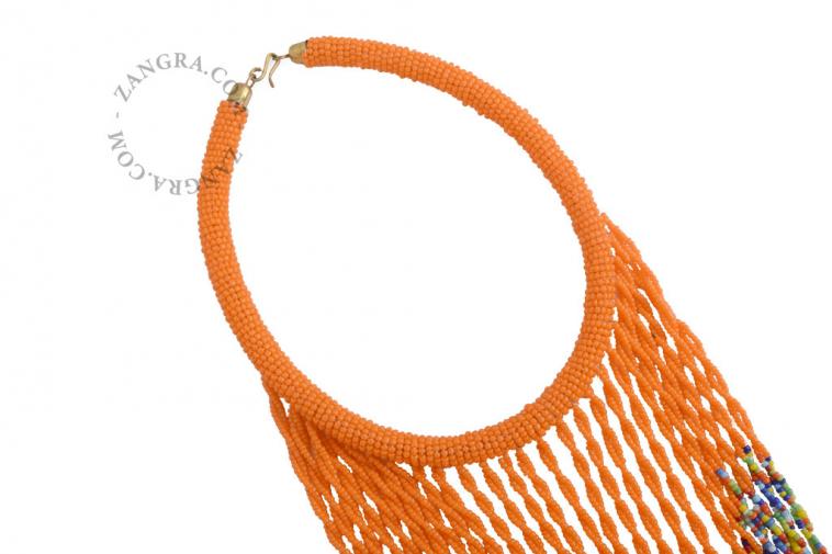 fairtrade-multicolor-bead-glass-ethnic-orange-necklace