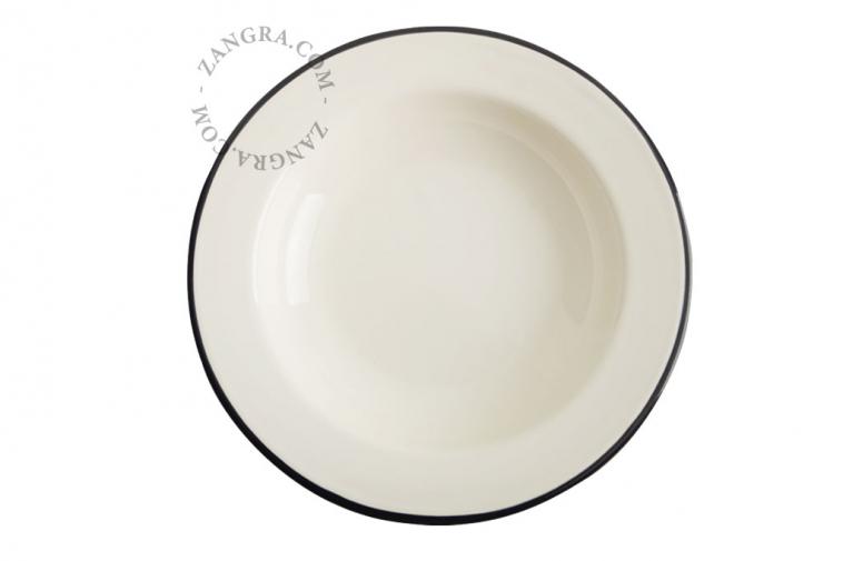 ivory-enamel-dinner-soup-plate-tableware-mint