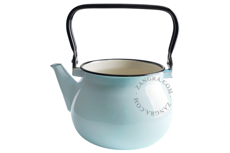 ivory-enamel-kettle-tableware-blue