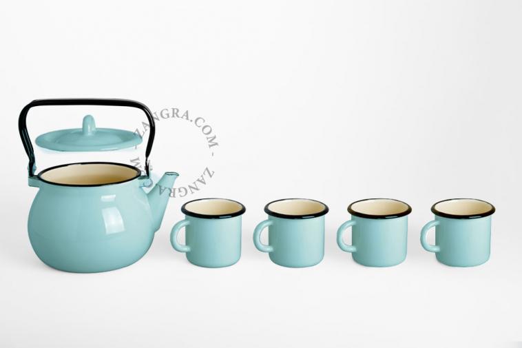 tableware-enamel-ivory-mug-kettle-blue