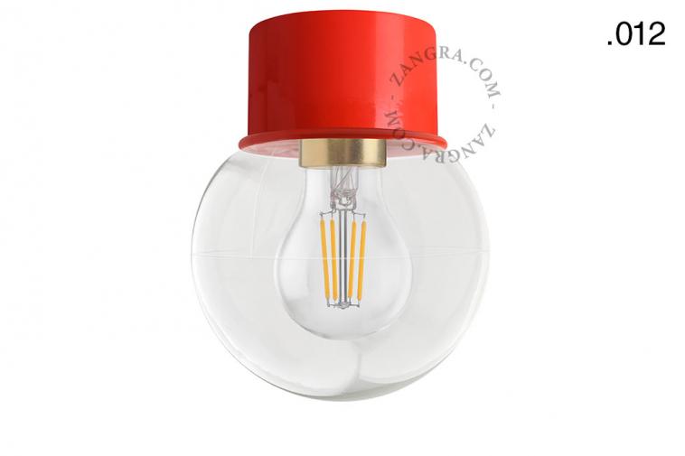 light-wall-lamp-lighting-metal-red-glass-globe-shade