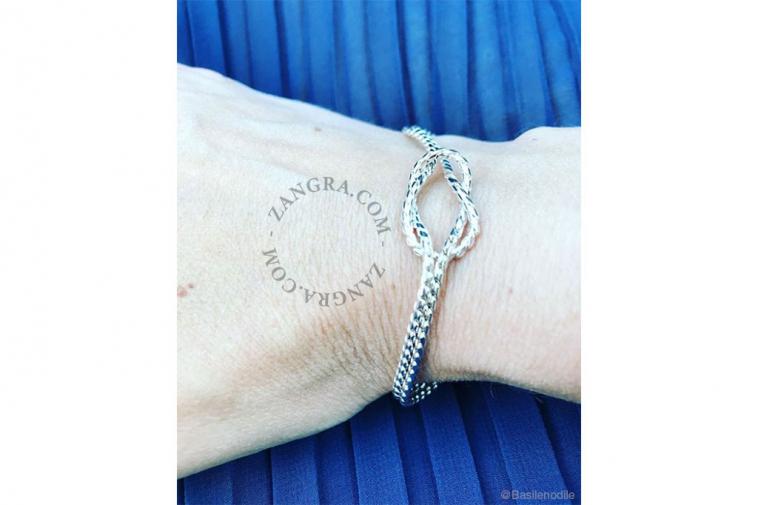 women-gold-bracelet-jewellery-silver-knot