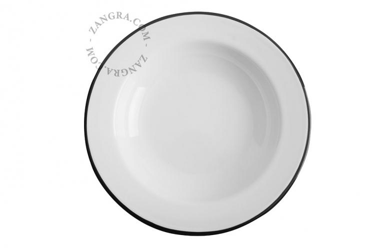 red-enamel-dinner-soup-plate-tableware
