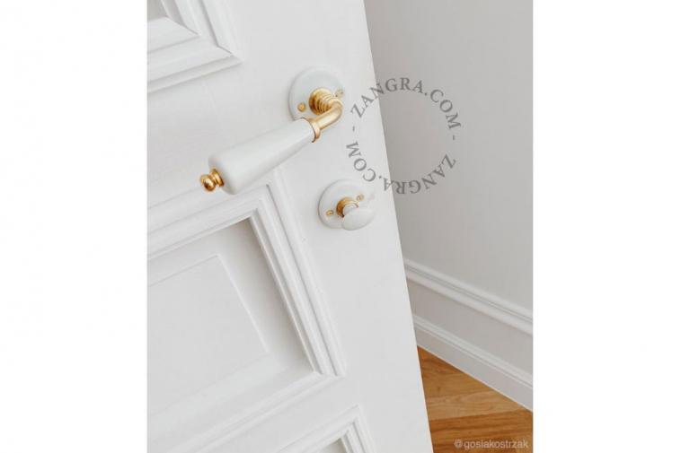 porcelain door handle knob brass
