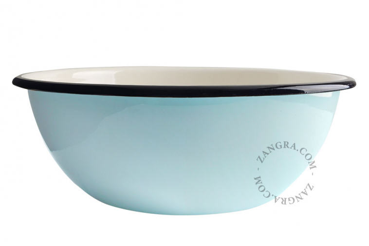 salad-tableware-ivory-blue-bowl-enamel