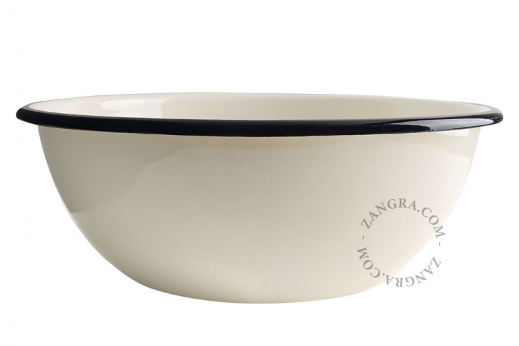 enamel-ivory-salad-tableware-bowl