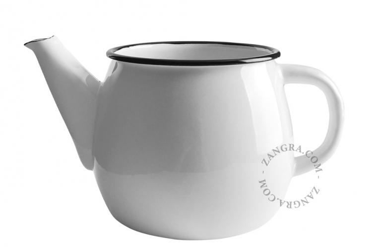 ivory-enamel-teapot-tableware