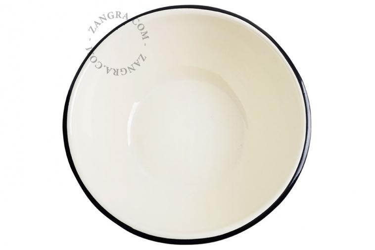 bowl-blue-salad-enamel-ivory-tableware