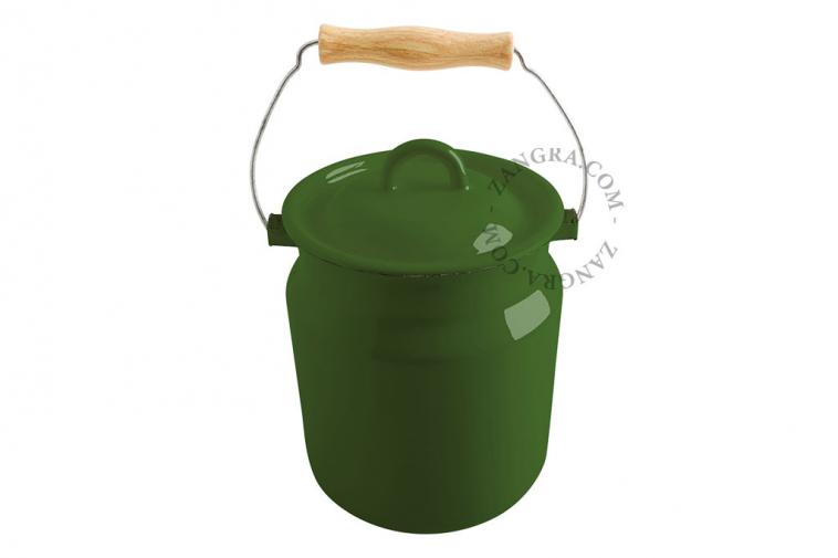 green-enamel-table-bin