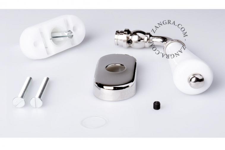 porcelain window handle knob