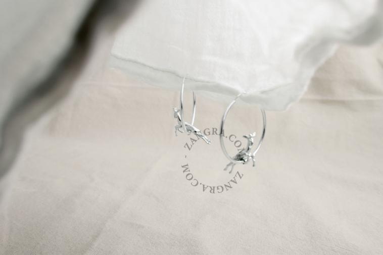 women-earrings-hoop-gold-silver-deer-jewellery
