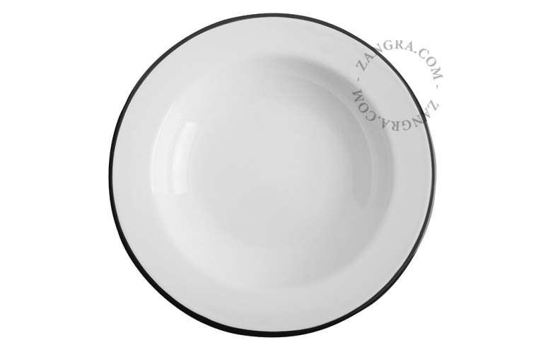 green-enamel-dinner-soup-plate-tableware