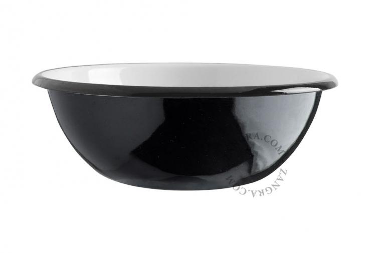 black-enamel-salad-bowl-tableware