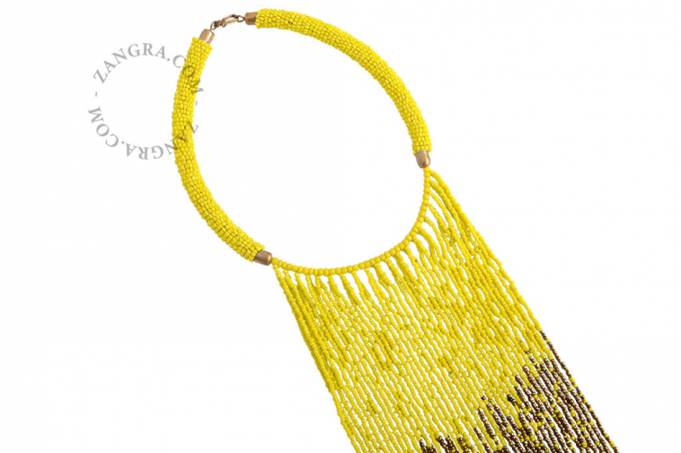multicolor-bead-ethnic-necklace-glass-fairtrade-yellow