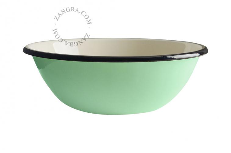 enamel-bowl-tableware-mint