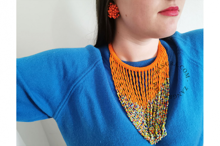 multicolor-necklace-orange-glass-fairtrade-bead-ethnic