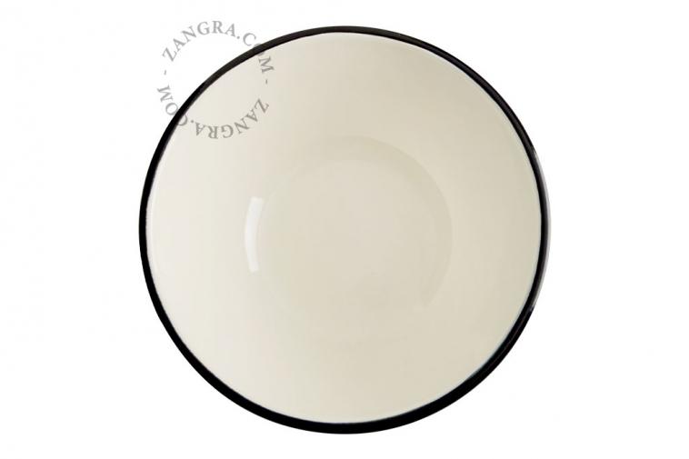 bowl-ivory-blue-enamel-tableware
