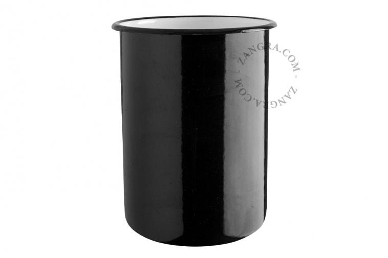 black-enamel-jar-tableware