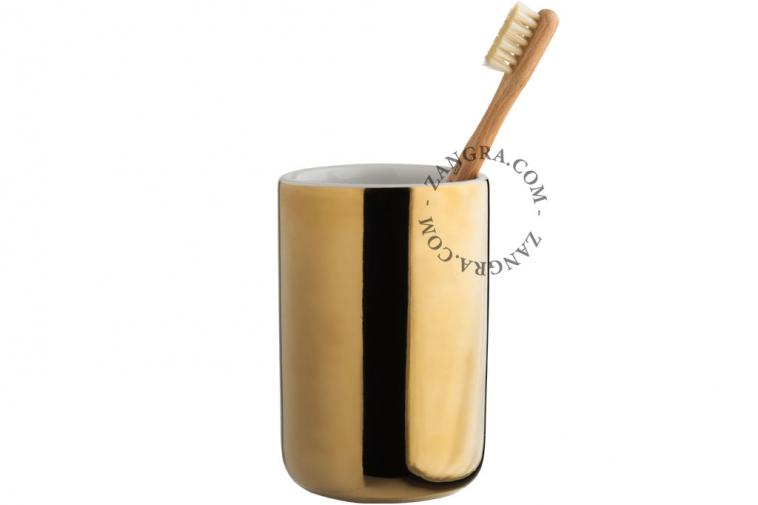tumbler in golden ceramic