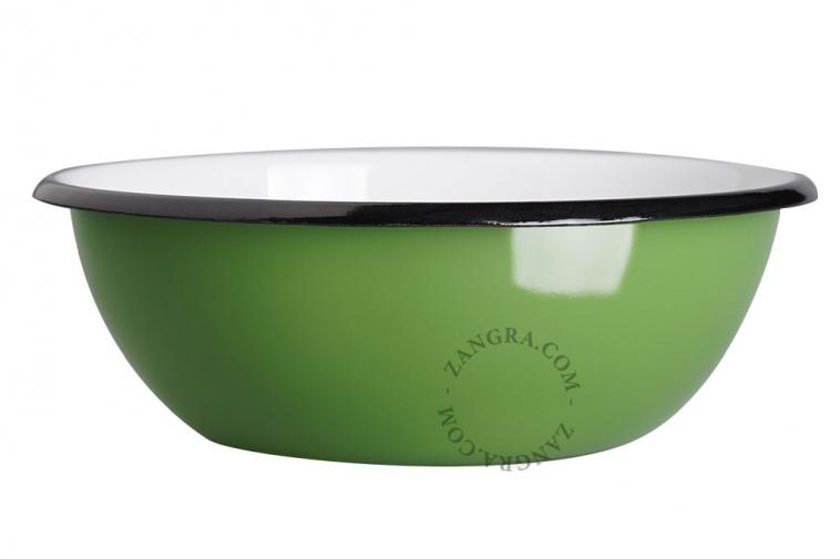 green-enamel-salad-bowl-tableware