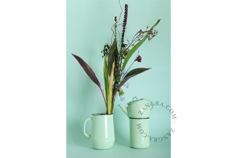 ivory-enamel-carafe-jug-tableware-mint