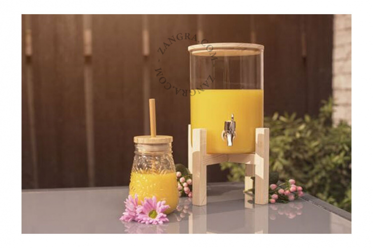 juice dispenser glass