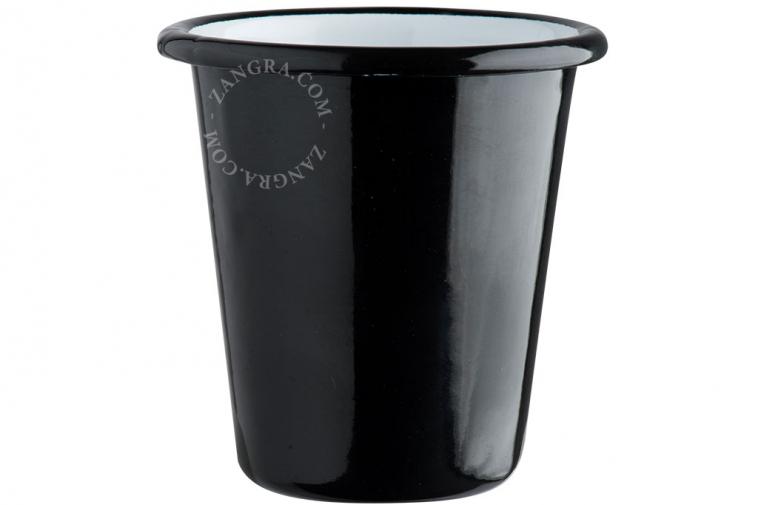 enamel tumbler black