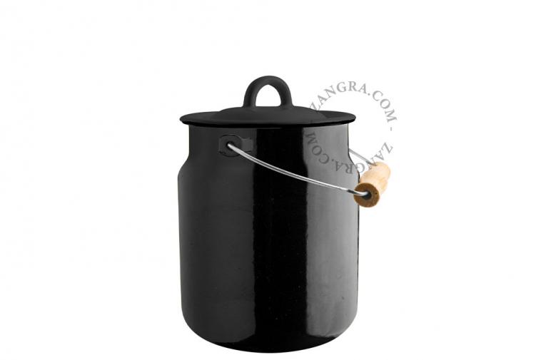 black-enamel-table-bin