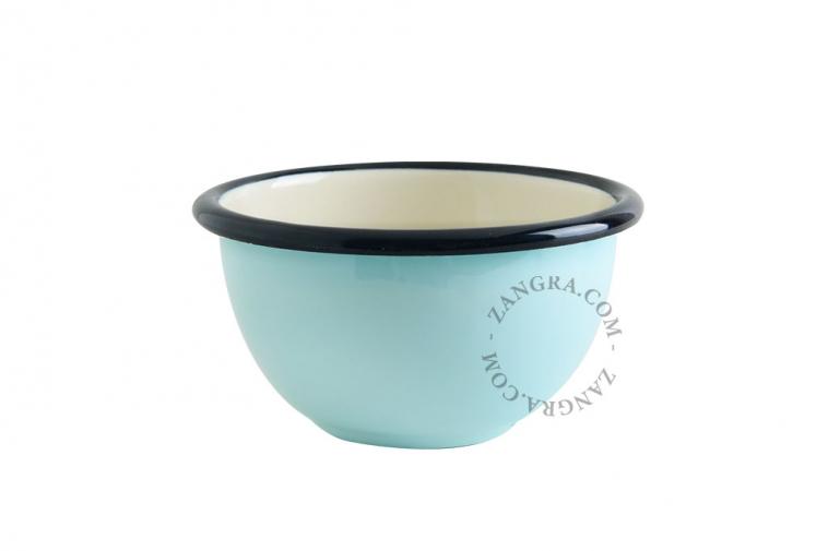 bowl-ivory-blue-tableware-enamel