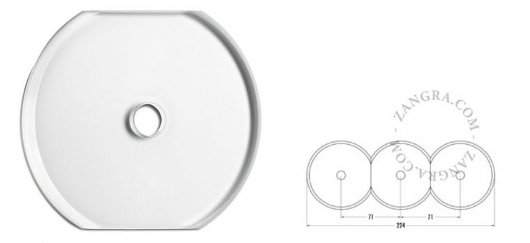 single cover transparent glass switch outlet