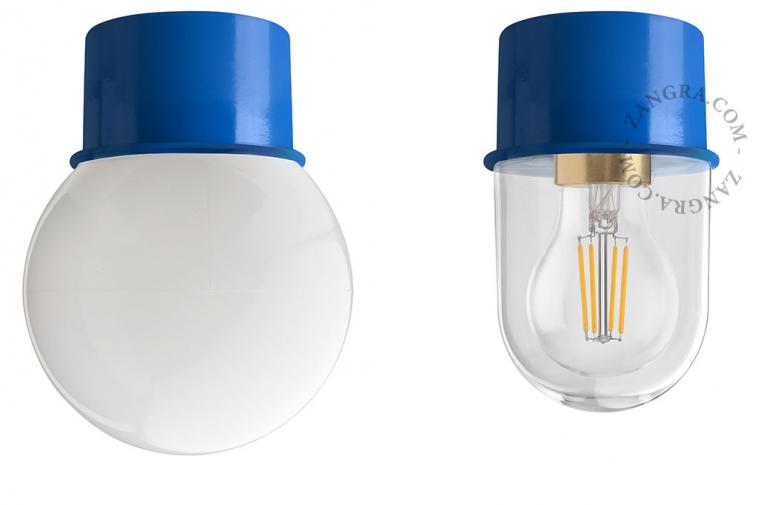 light-wall-lamp-lighting-metal-blue-glass-globe-shade