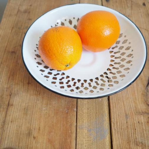 enamel dish white