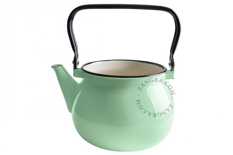 enamel-kettle-tableware-mint